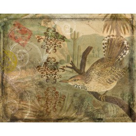 Ornamental Pattern & Bird IV