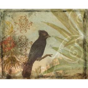 Ornamental Pattern & Bird V