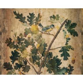Antique - Oak Tree With Bird I